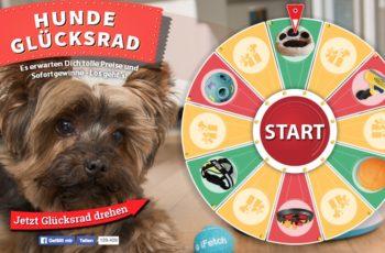 Dreh das Hunde Glücksrad und gewinn tolle Preise und Sofortgewinne