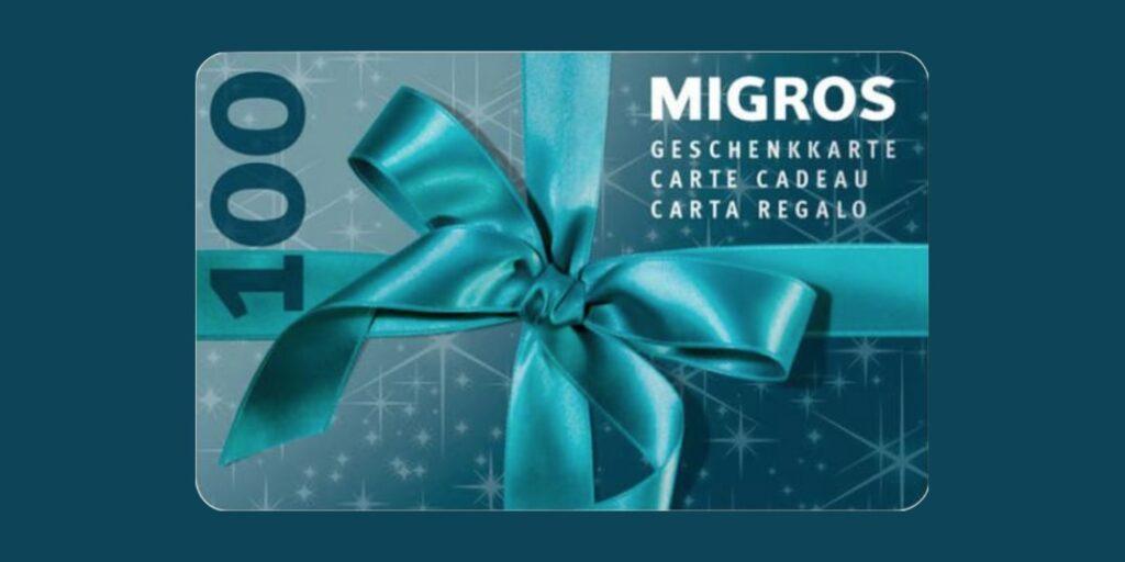 Gewinne eine Migros Geschenkkarte im Wert von CHF 100 - Glueckspilz.ch